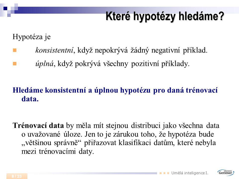 Které hypotézy hledáme
