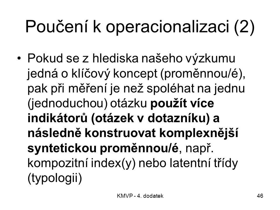 Poučení k operacionalizaci (2)