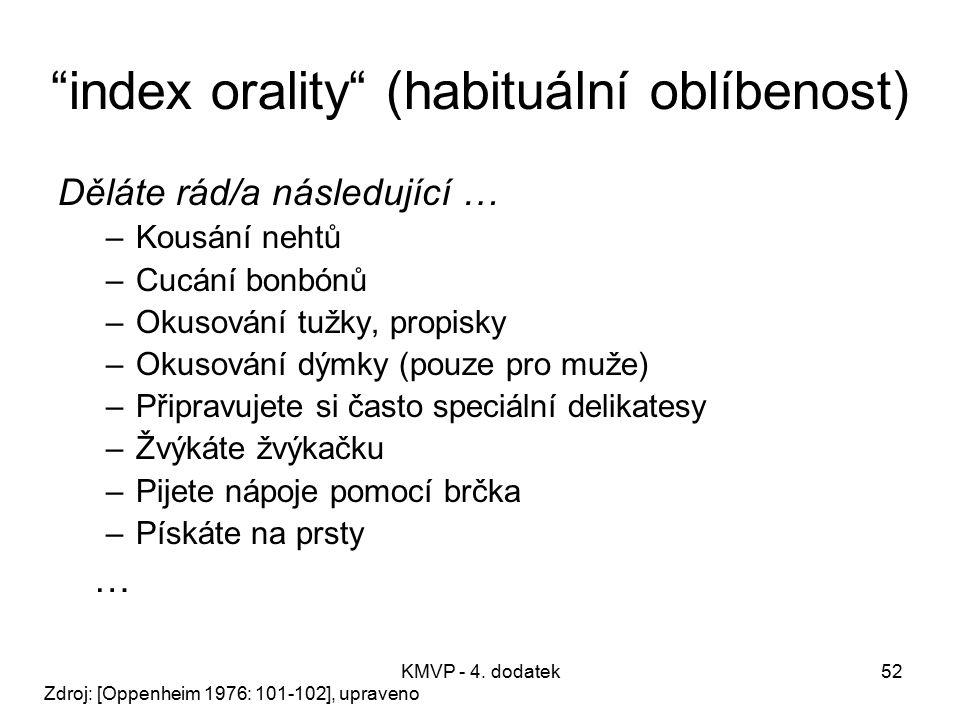 index orality (habituální oblíbenost)