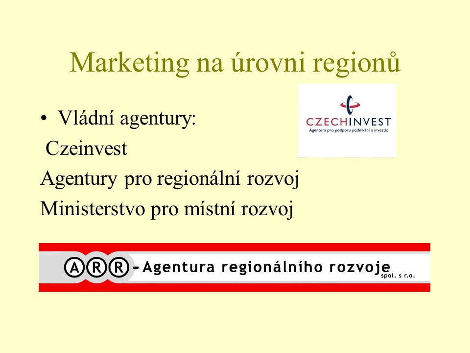 Marketing na úrovni regionů