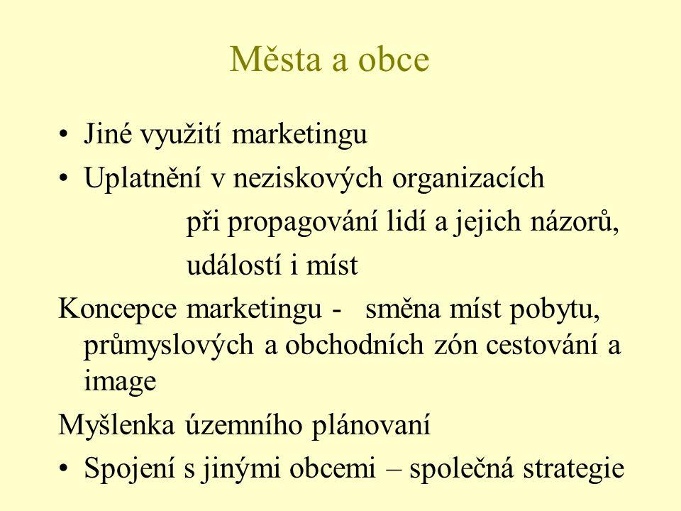 Města a obce Jiné využití marketingu