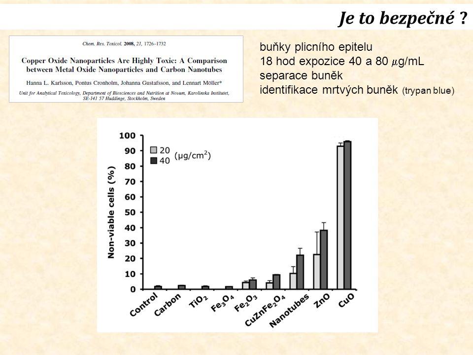 Je to bezpečné buňky plicního epitelu 18 hod expozice 40 a 80 g/mL