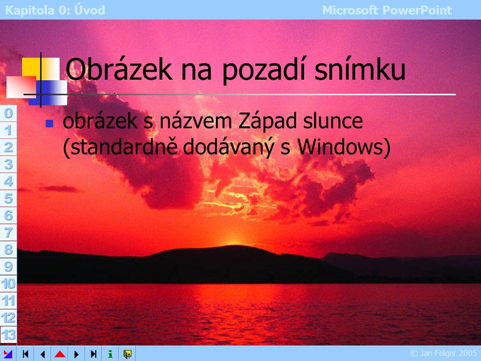 Obrázek na pozadí snímku