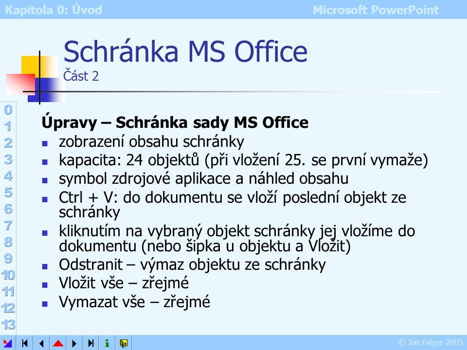Schránka MS Office Část 2