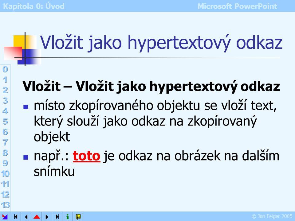 Vložit jako hypertextový odkaz