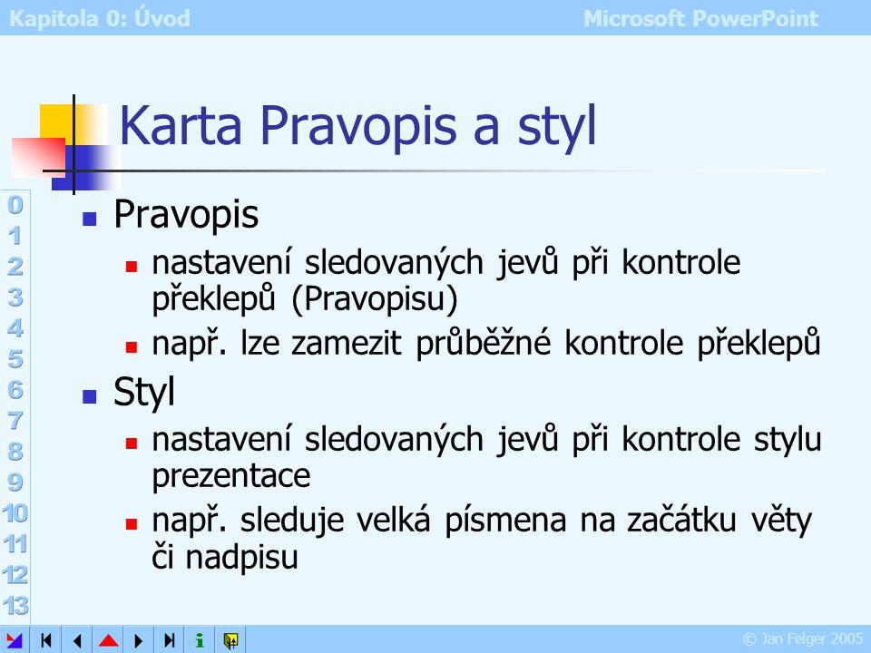 Karta Pravopis a styl Pravopis Styl