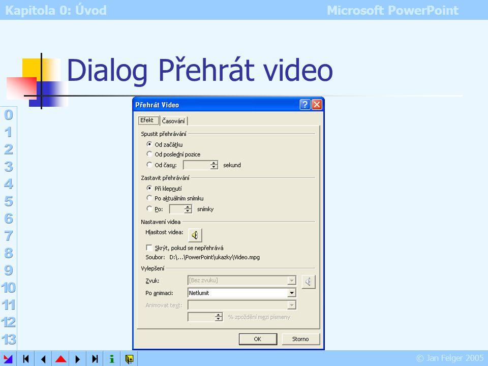 Dialog Přehrát video