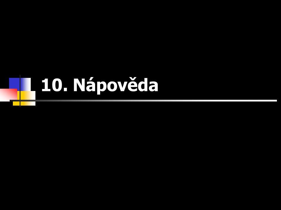 10. Nápověda