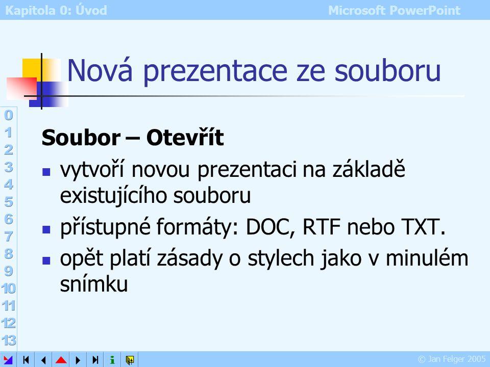Nová prezentace ze souboru