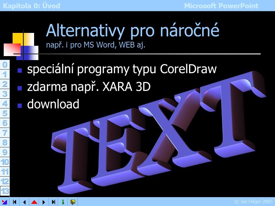 Alternativy pro náročné např. i pro MS Word, WEB aj.