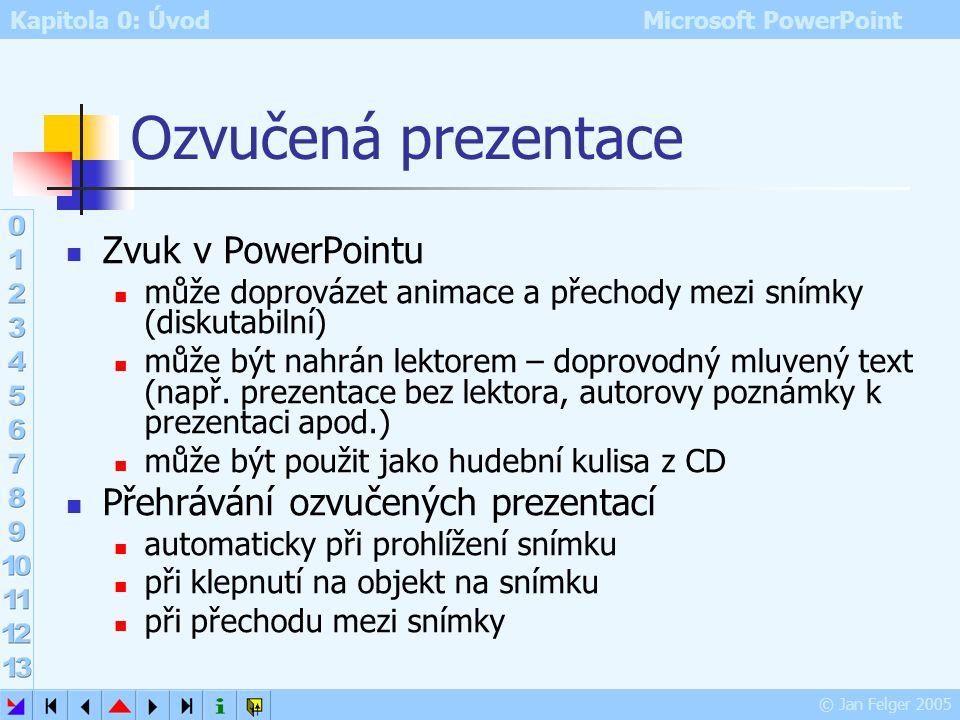 Ozvučená prezentace Zvuk v PowerPointu