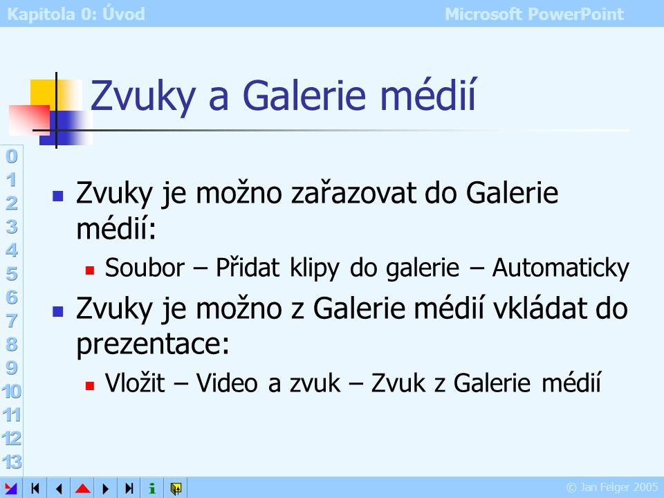 Zvuky a Galerie médií Zvuky je možno zařazovat do Galerie médií: