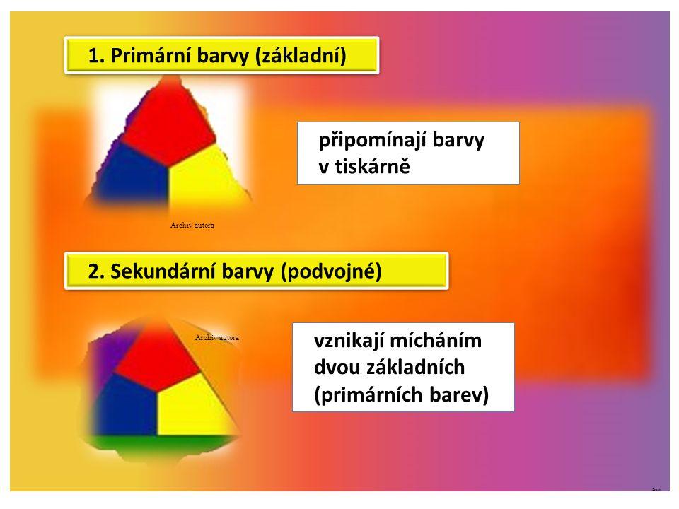 1. Primární barvy (základní)