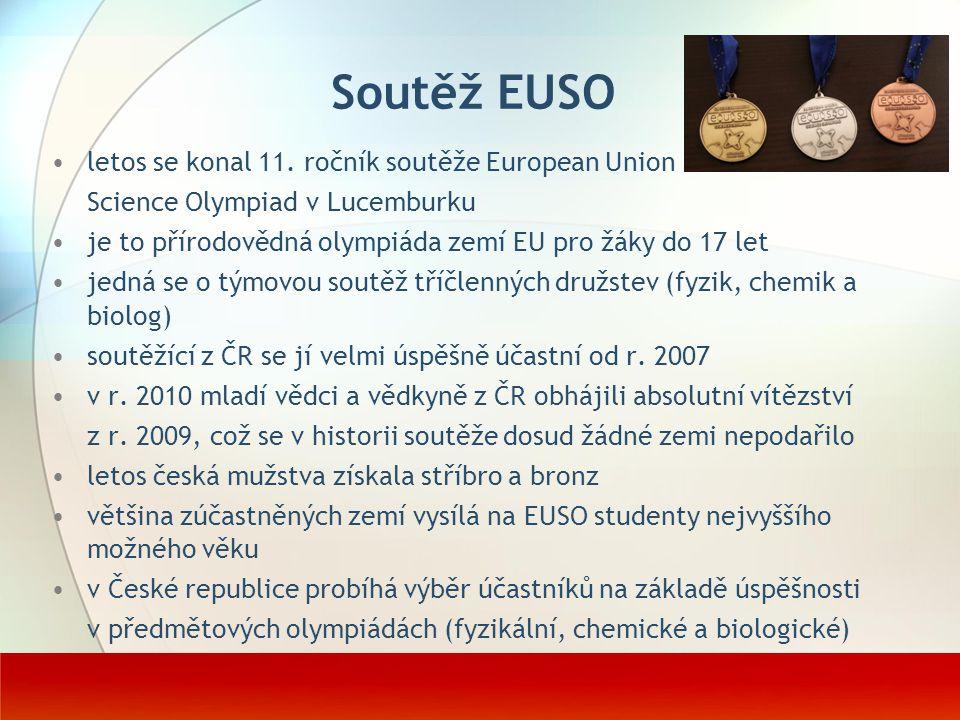 Soutěž EUSO letos se konal 11. ročník soutěže European Union