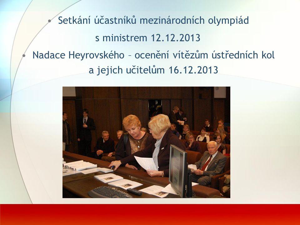Setkání účastníků mezinárodních olympiád