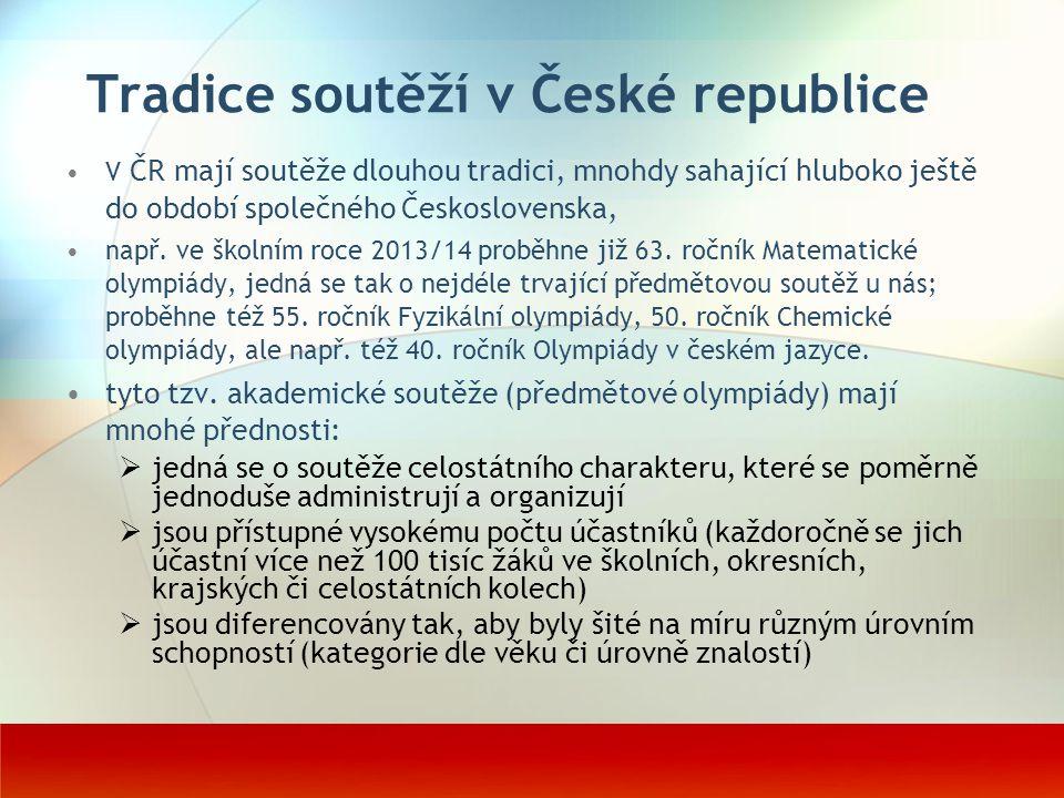 Tradice soutěží v České republice