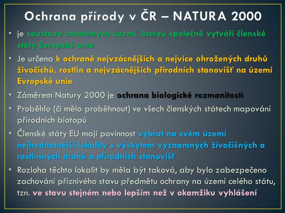 Ochrana přírody v ČR – NATURA 2000