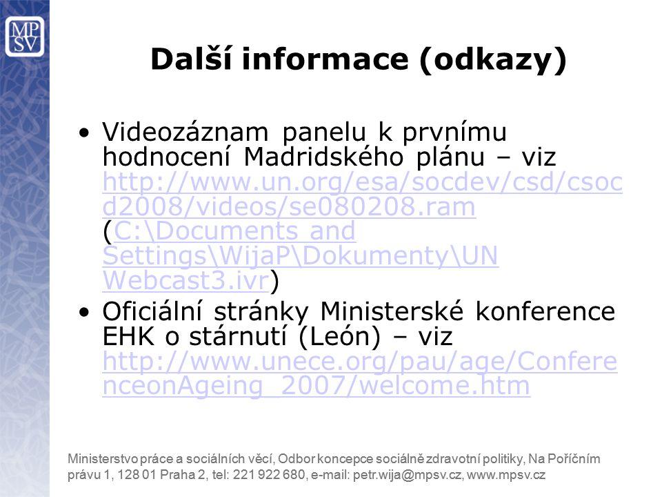 Další informace (odkazy)