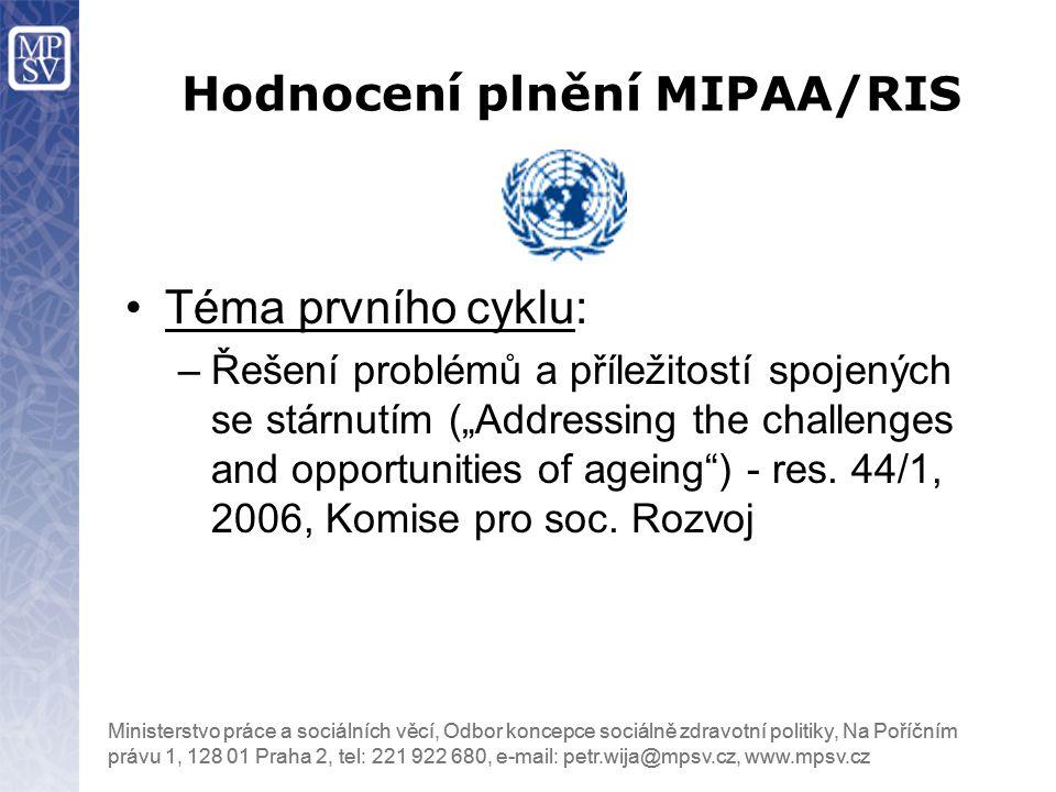 Hodnocení plnění MIPAA/RIS
