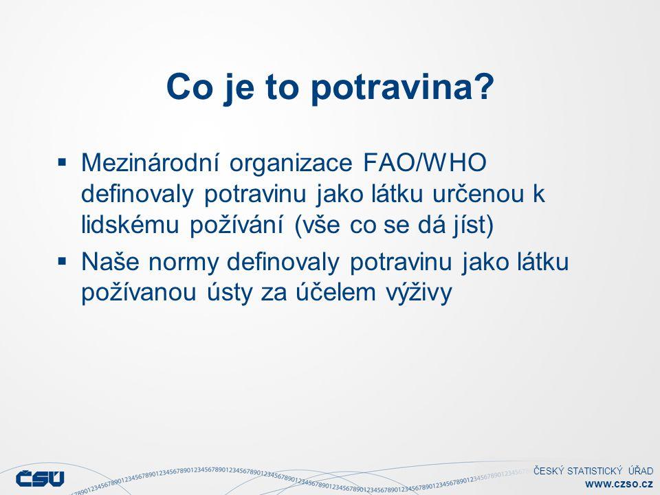 Co je to potravina Mezinárodní organizace FAO/WHO definovaly potravinu jako látku určenou k lidskému požívání (vše co se dá jíst)