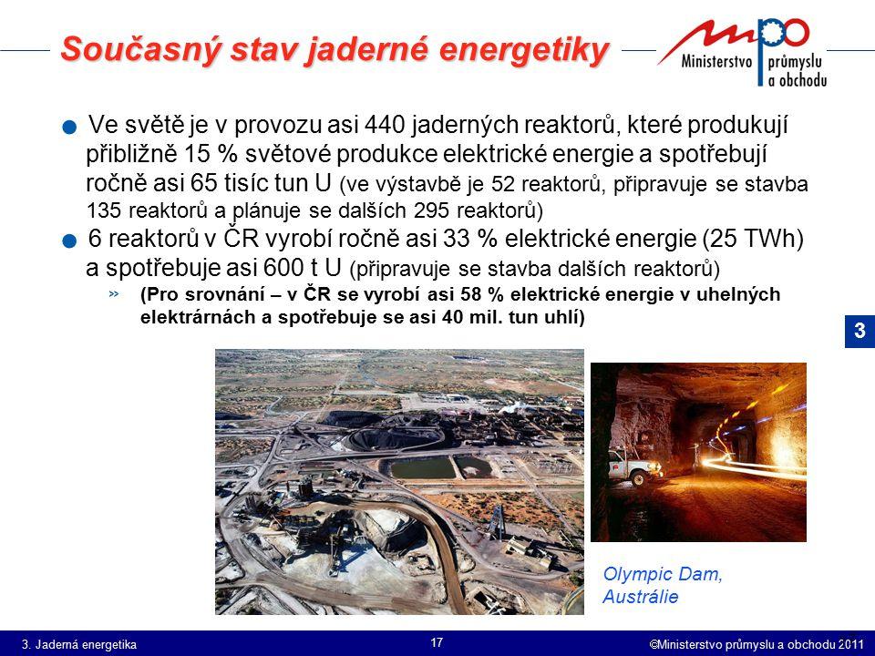 Současný stav jaderné energetiky