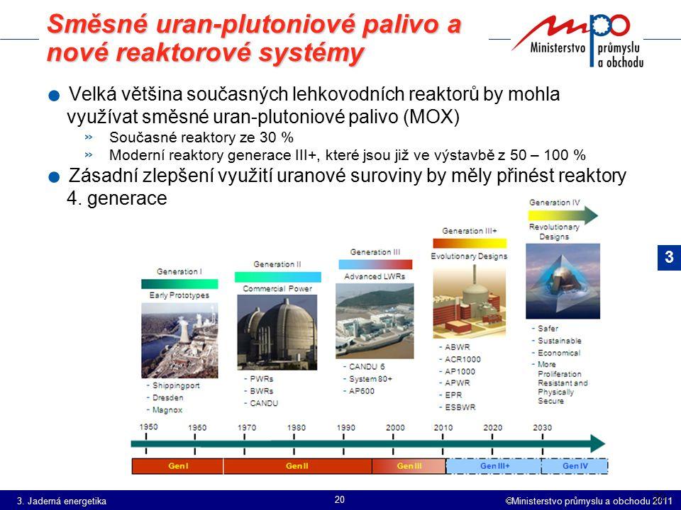 Směsné uran-plutoniové palivo a nové reaktorové systémy