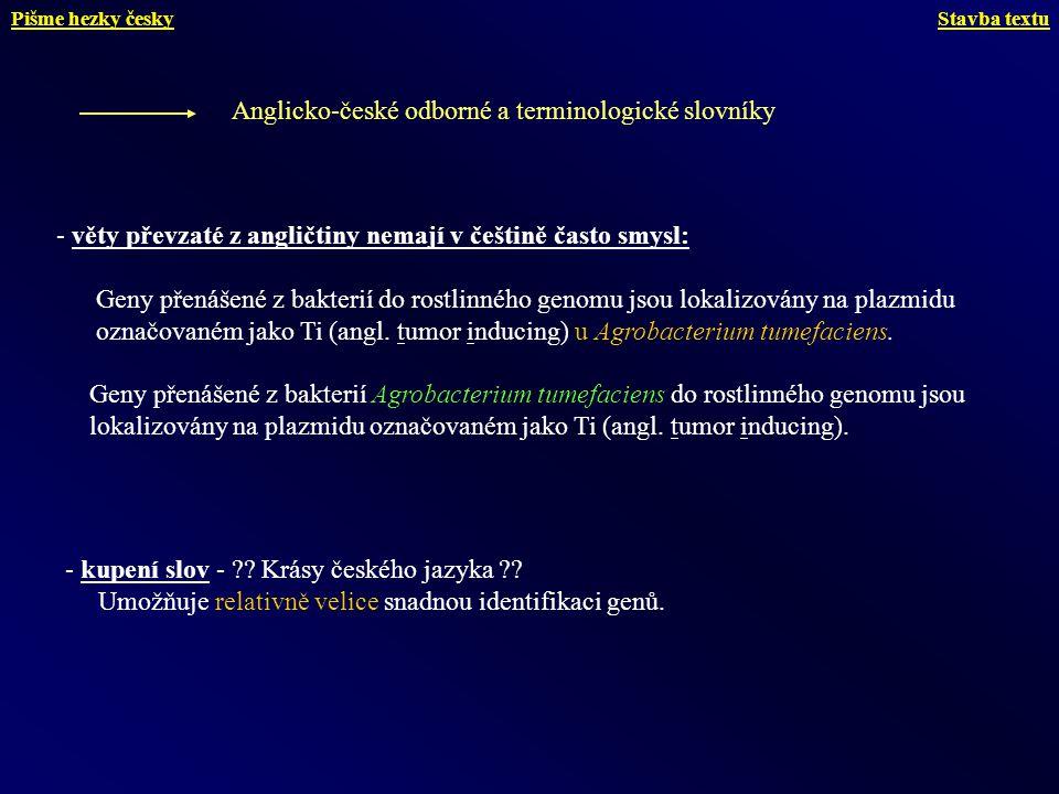 Anglicko-české odborné a terminologické slovníky