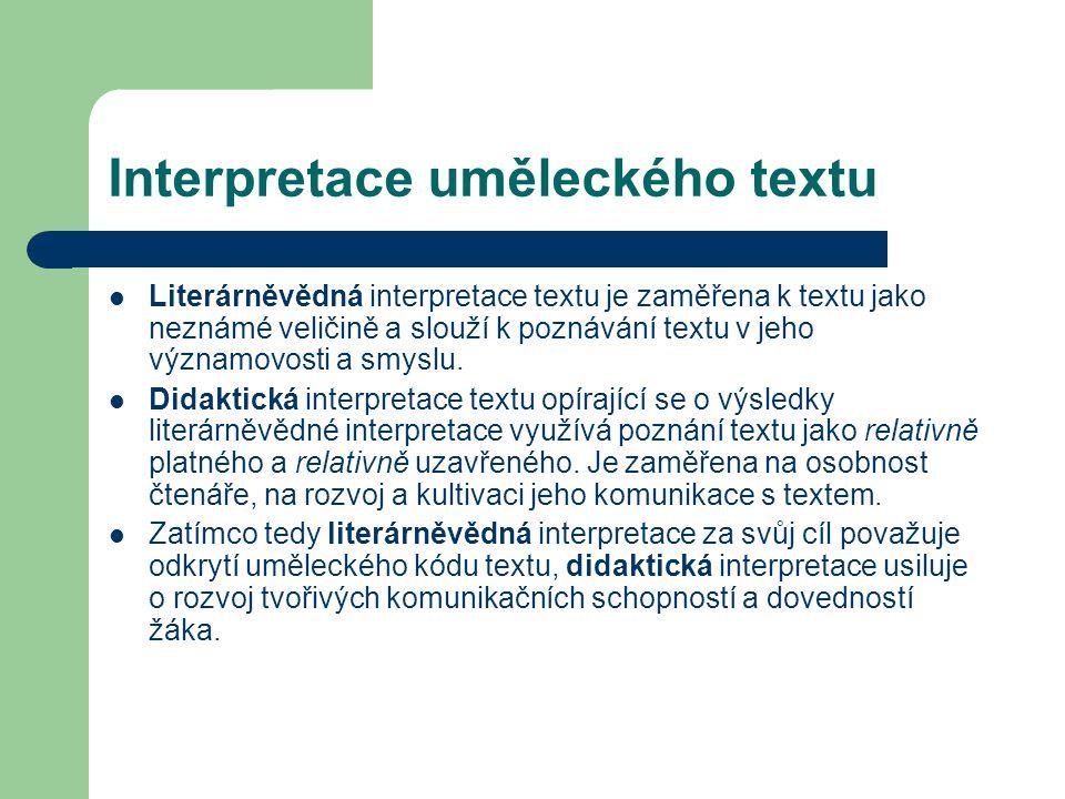 Interpretace uměleckého textu