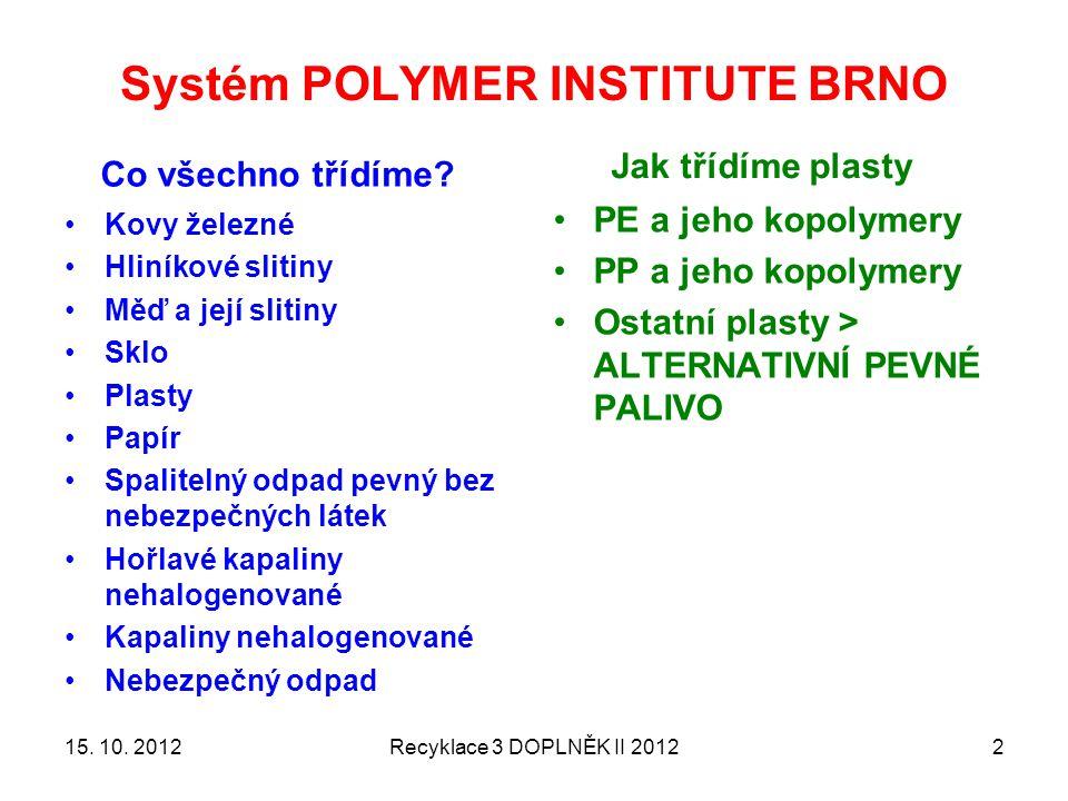 Systém POLYMER INSTITUTE BRNO