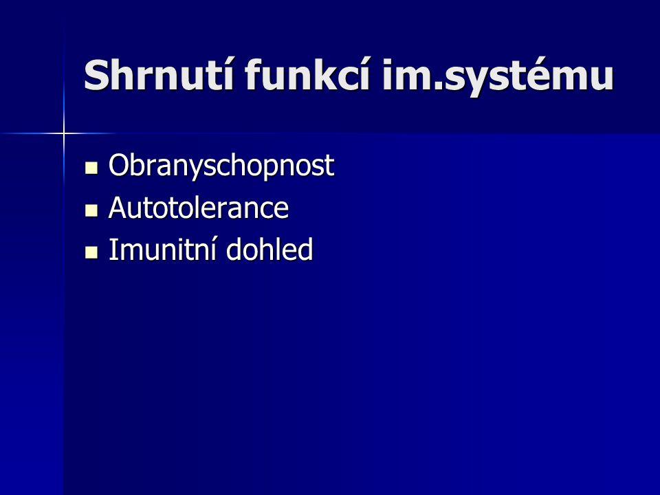 Shrnutí funkcí im.systému