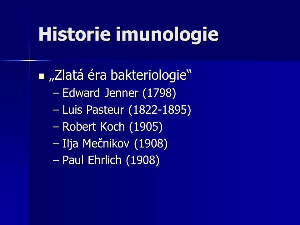"""Historie imunologie """"Zlatá éra bakteriologie Edward Jenner (1798)"""