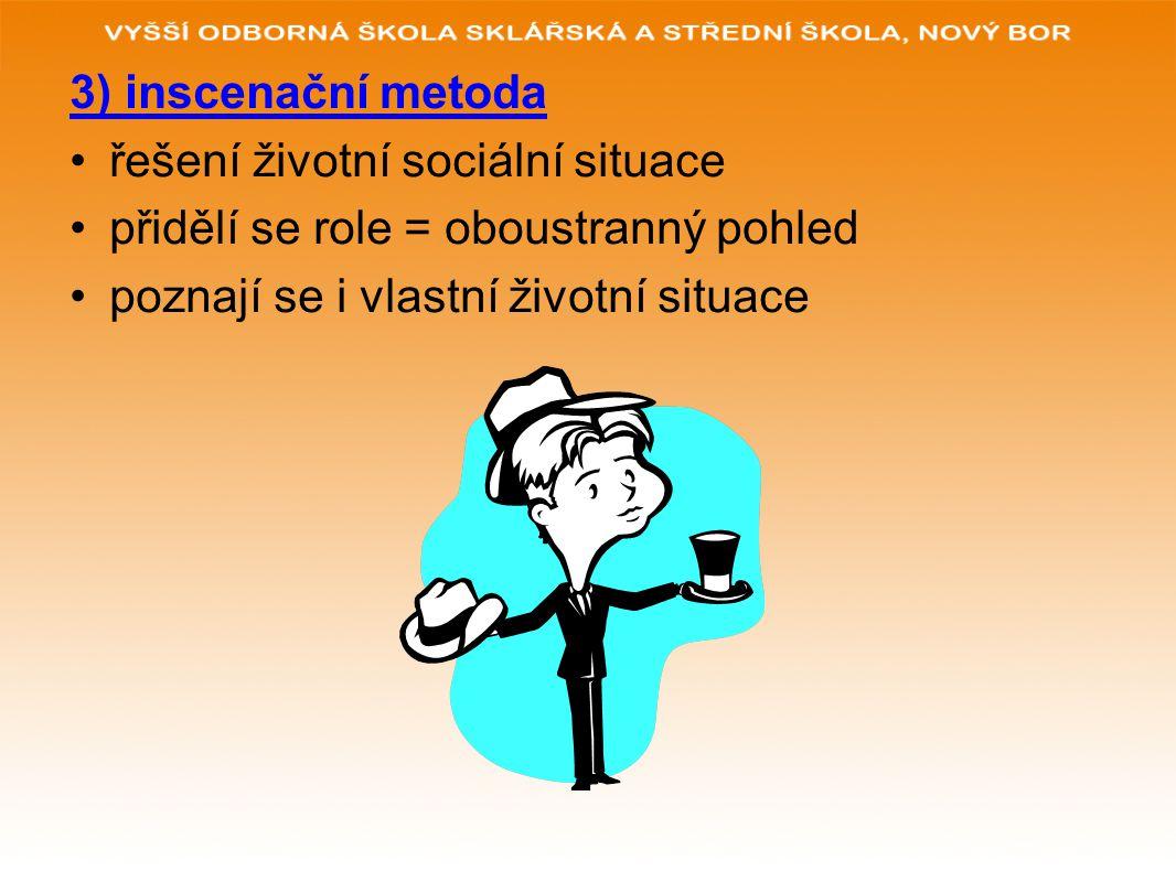 3) inscenační metoda řešení životní sociální situace.