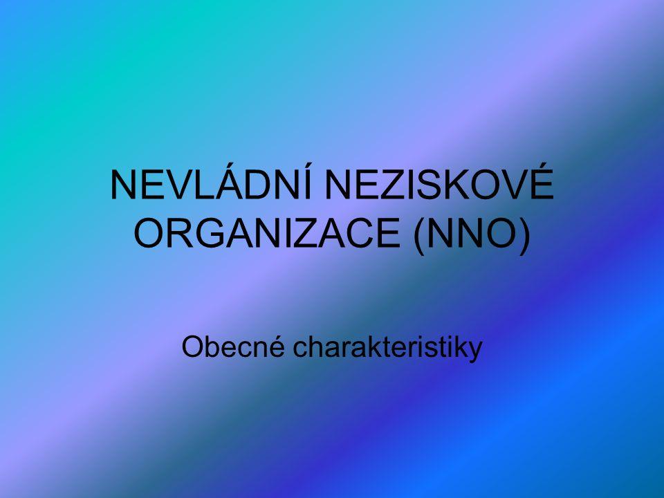 NEVLÁDNÍ NEZISKOVÉ ORGANIZACE (NNO)