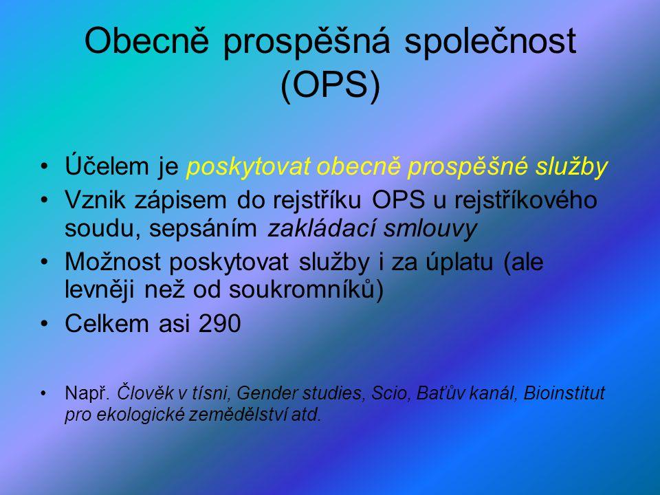 Obecně prospěšná společnost (OPS)