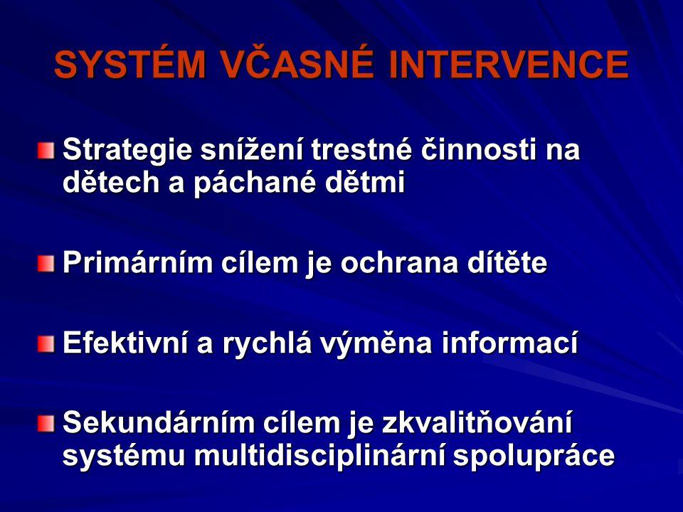 SYSTÉM VČASNÉ INTERVENCE