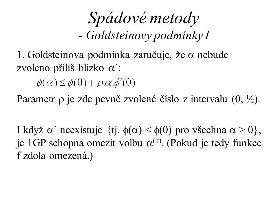 Spádové metody - Goldsteinovy podmínky I