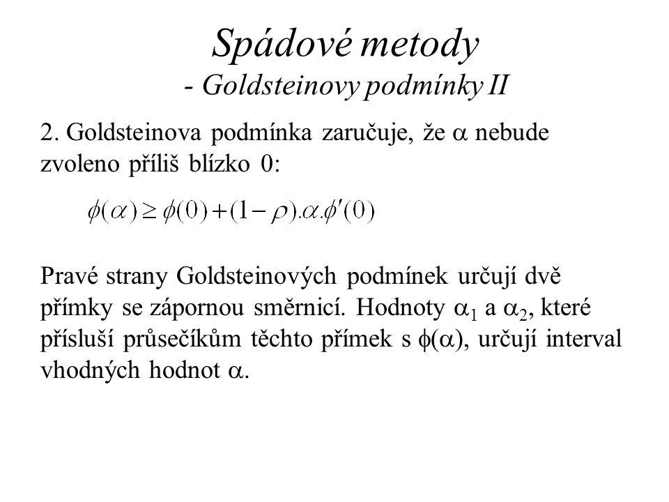 Spádové metody - Goldsteinovy podmínky II