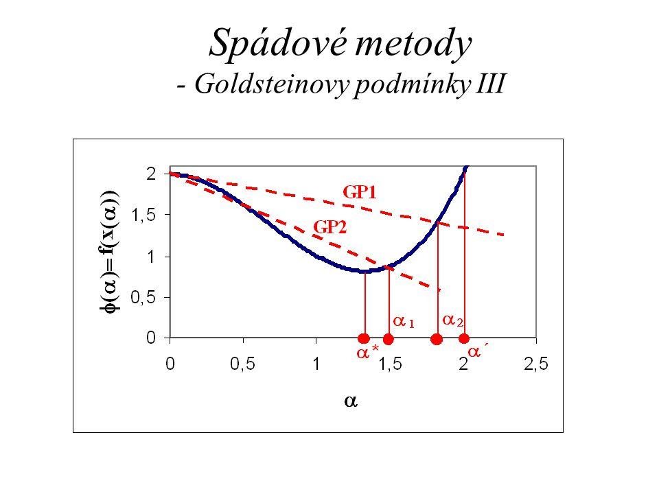 Spádové metody - Goldsteinovy podmínky III