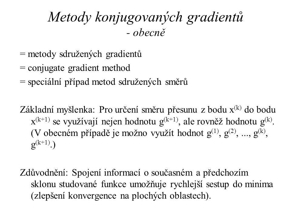 Metody konjugovaných gradientů - obecně