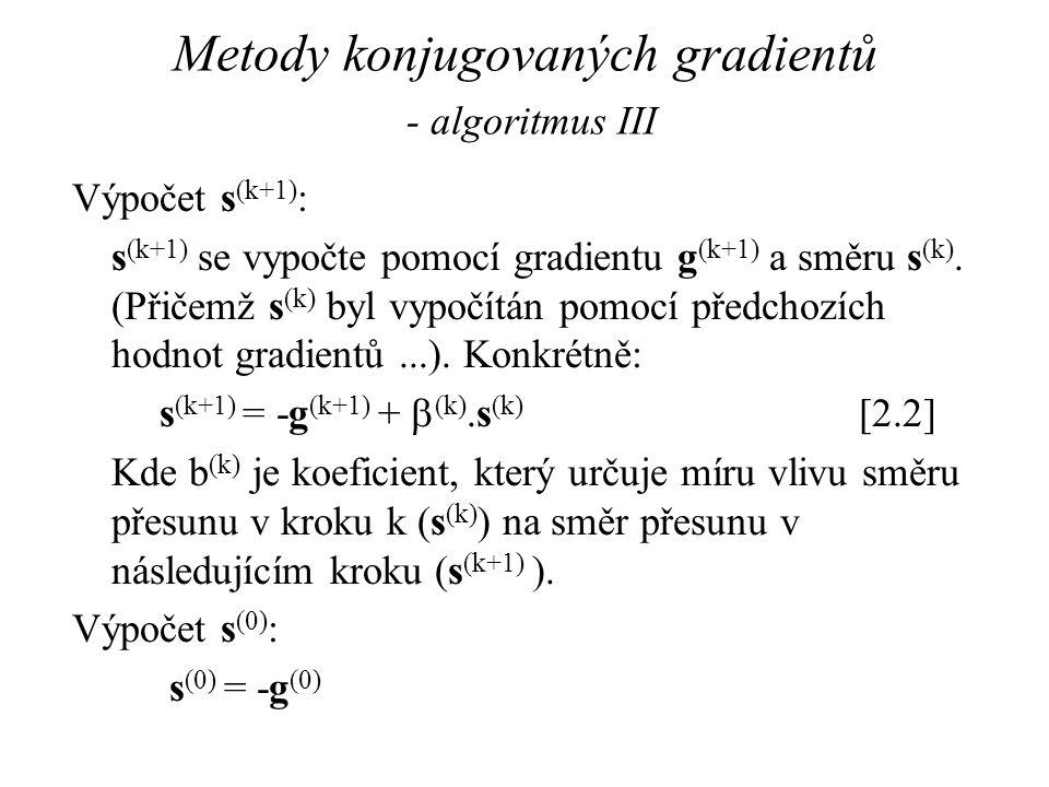 Metody konjugovaných gradientů - algoritmus III