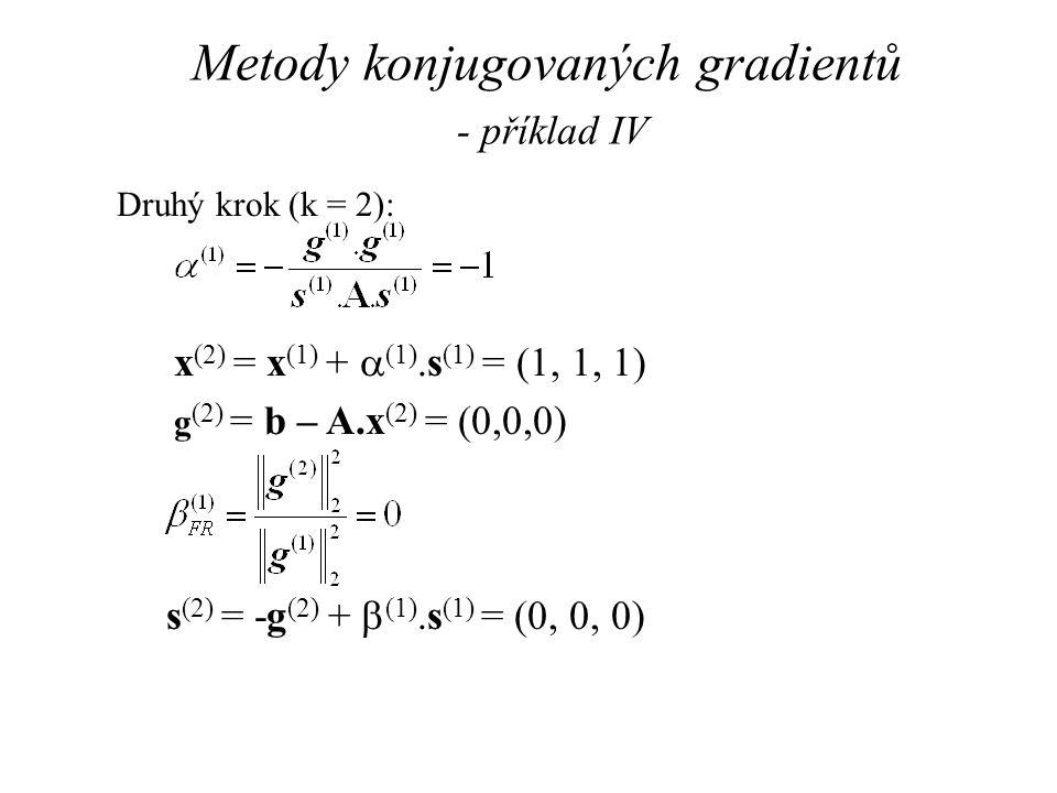 Metody konjugovaných gradientů - příklad IV