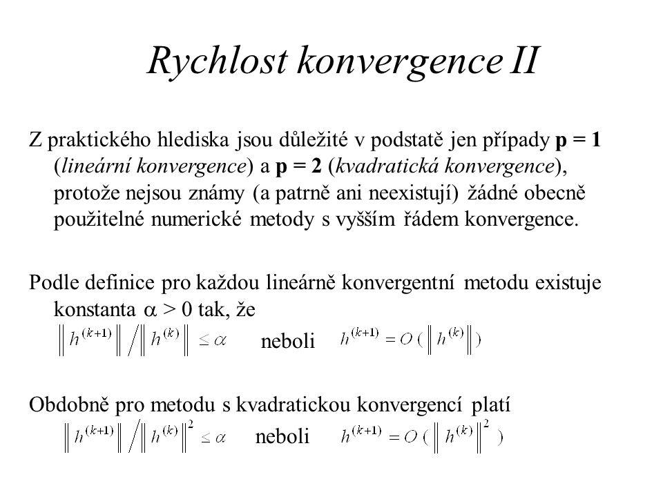 Rychlost konvergence II