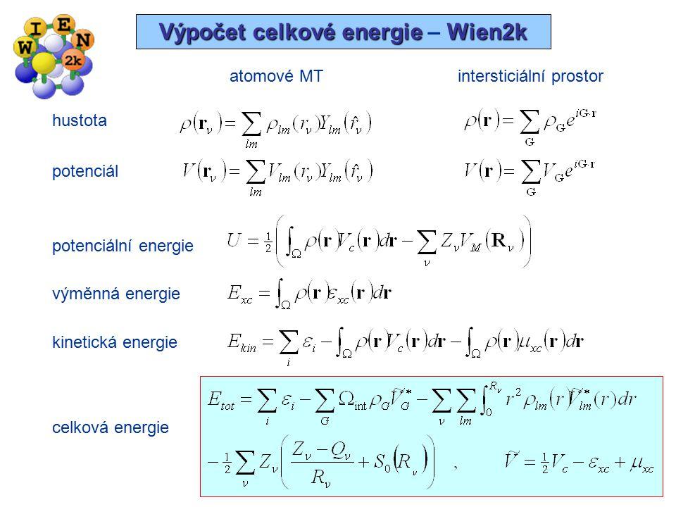 Výpočet celkové energie – Wien2k