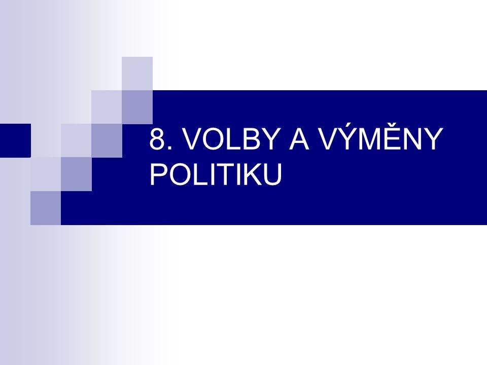 8. VOLBY A VÝMĚNY POLITIKU