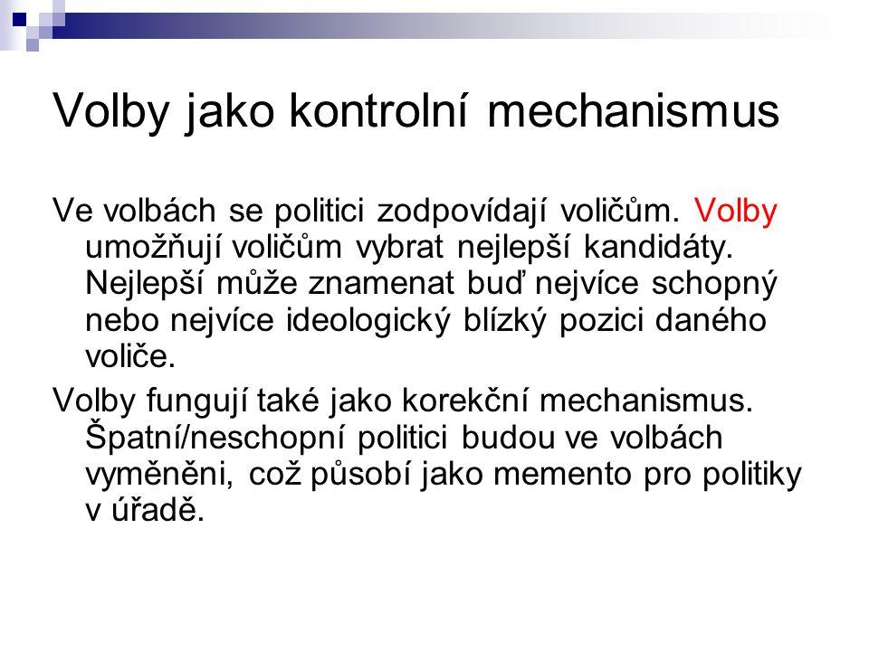 Volby jako kontrolní mechanismus