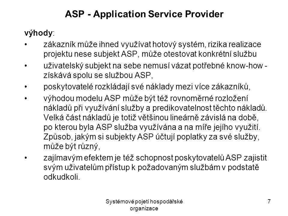 ASP - Application Service Provider