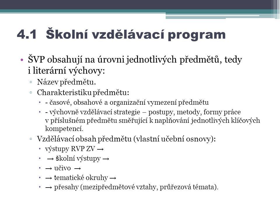 4.1 Školní vzdělávací program