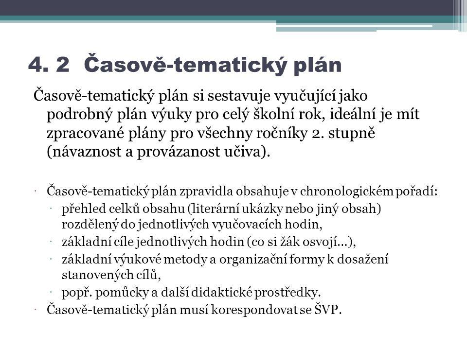 4. 2 Časově-tematický plán
