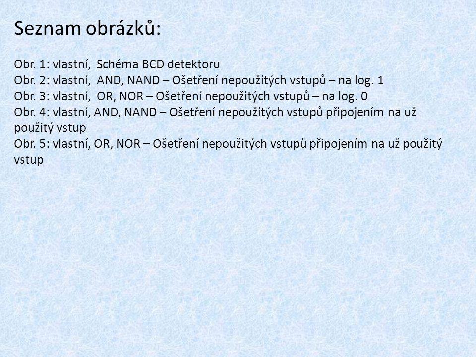 Seznam obrázků: Obr. 1: vlastní, Schéma BCD detektoru
