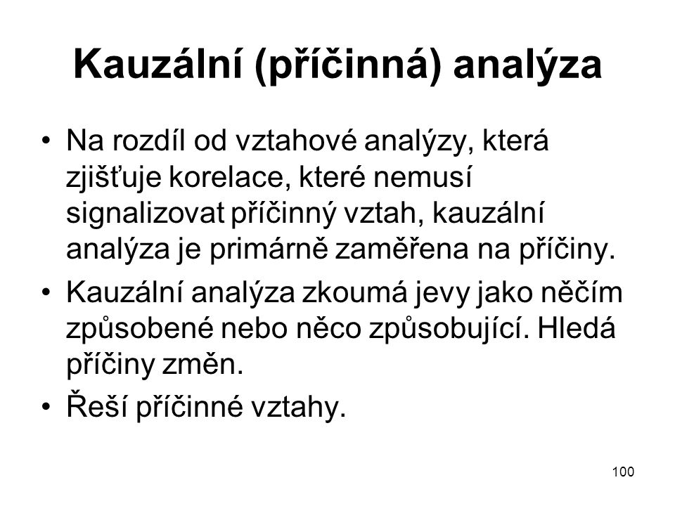 Kauzální (příčinná) analýza